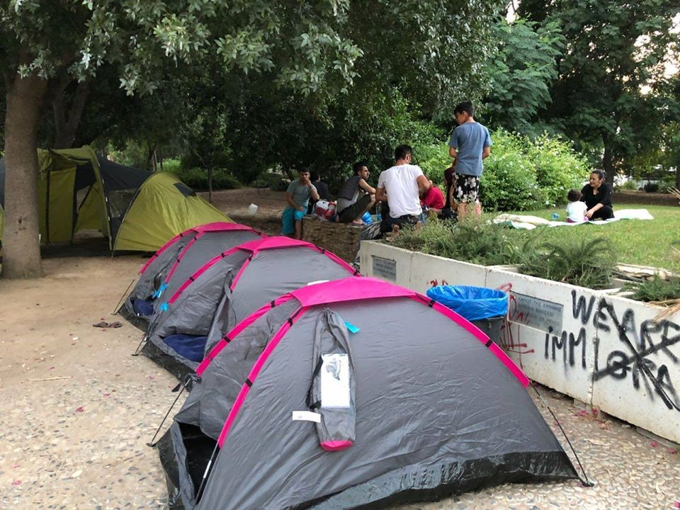 Asylum Seekers using tents